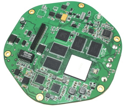 Prototype pcb assembly for five sense organs ultrashort wave ele