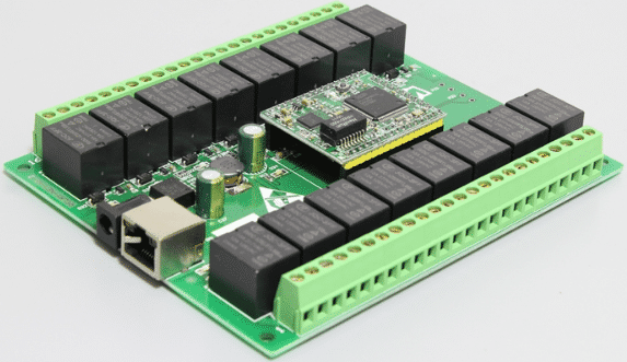 Smart electronic board for network relay control switch